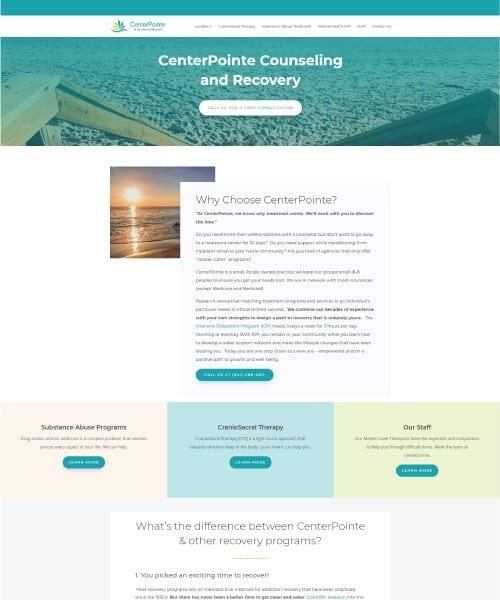Centerpointe Website Homepage Screenshot